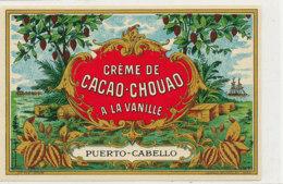 AN 545 / ETIQUETTE   CREME DE CACAO  A LA VANILLE PUERTO CABELLO - Labels