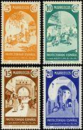 Marruecos 196/199 * Arcos. 1939 Charnela - Marruecos Español