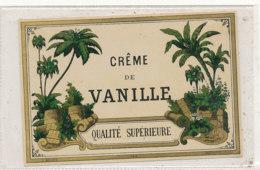 AN 550 / ETIQUETTE   CREME DE  VANILLE  QUALITE SUPERIEURE - Etiquettes