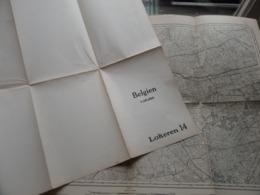 LOKEREN ( 14 ) Belgien Categorie Stafkaart 1:60.000 ( Kaarten Uit Verzameling / Formaat 60 X 42 Cm. ) Zie Foto's ! - Europe
