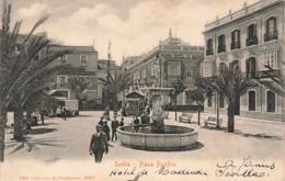 Espagne Seville Sevilla Place Plaza Pacifico + Timbre Cachet 1906 - Sevilla