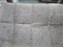 THIELT ( 21 ) Belgien Categorie Stafkaart 1:60.000 ( Kaarten Uit Verzameling / Formaat 60 X 42 Cm. ) Zie Foto's ! - Europe