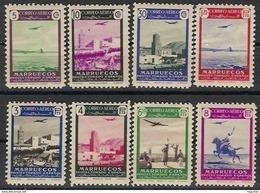 Marruecos 297/301 * Paisajes. 1949. Charnela - Marruecos Español
