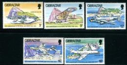 "GIBRALTAR  1978   MNH   -  "" 60e ANNIVERSAIRE ROYAL AIR FORCE / AVIONS ""   -   5  VAL. - Gibraltar"