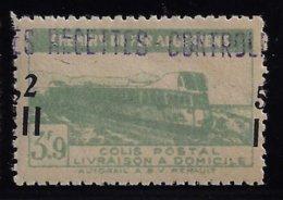 ALGÉRIE / ALGERIA 1945 - YT Colis Postaux 134** - Variété Surcharge 5f 2 à Cheval - Colis Postaux