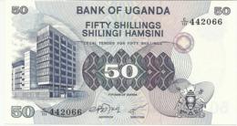 UGANDA 50 SHILLINGS 1979 PICK 13b UNC - Uganda