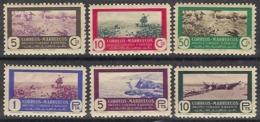 Marruecos 330/335 * Caza Y Pesca. 1950 Charnela - Marruecos Español