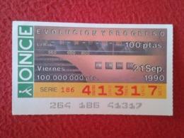 SPAIN CUPÓN DE ONCE CIEGOS LOTTERY LOTERÍA ESPAÑA 1990 EVOLUCIÓN Y PROGRESO EVOLUTION AND PROGRESS LA RADIO...EMISORAS.. - Billetes De Lotería