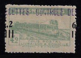 ALGÉRIE / ALGERIA 1945 - YT Colis Postaux 135** - Variété Surcharge 6f 2 à Cheval - Colis Postaux