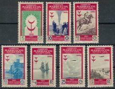 Marruecos 336/342 * Tuberculosos. 1951. Charnela - Marruecos Español