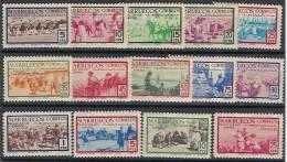 Marruecos 343/356 * Indígenas. 1952. Charnela - Marruecos Español