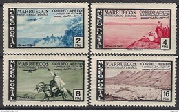 Marruecos 357/360 * Museo Postal. 1952. Charnela - Marruecos Español