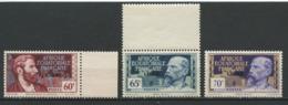 AEF 1940 N° 109/111 ** Neufs MNH Superbes C 5,40 € Savorgnan De Brazza Emile Gentil - Neufs