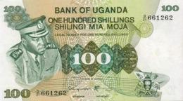 UGANDA 100 SHILLINGS 1973 PICK 9c UNC - Uganda