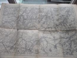 NIVELLES ( 39 ) Belgien Categorie Stafkaart 1:60.000 ( Kaarten Uit Verzameling / Formaat 60 X 42 Cm. ) Zie Foto's 1915 ! - Europe