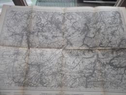 THUIN ( 52 ) Belgien Categorie Stafkaart 1:60.000 ( Kaarten Uit Verzameling / Formaat 60 X 42 Cm. ) Zie Foto's / 1915 ! - Europe