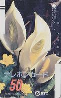 Télécarte Ancienne Japon / NTT 250-007 - FLEUR - FLOWER Japan Front Bar Phonecard Balken Telefonkarte - Japan
