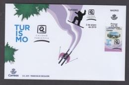 1.- SPAIN ESPAGNE 2019 FDC SNOW TOURISM SKI SNOWBOARD - Ski