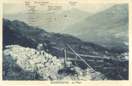 """5260 """" BUSSOLENO - LE ALPI """"ANIMATA-CAVA DI PIETRA -CART. POST. OR. SPED.1939 - Italie"""