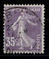 France Semeuse Fond Plein 1907 - YT N°142 - Oblitéré - 1906-38 Semeuse Camée