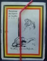 Affi. 14. Petite Affichette De L'A.S.B.L Parrainage Des Enfants De Fusillés. Avec Remerciement Au Verso Pour ATH - Documents