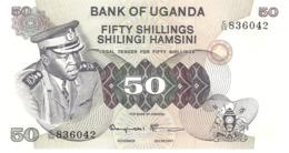 UGANDA 50 SHILLINGS 1973 PICK 8c UNC - Oeganda