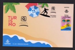 1.- SPAIN ESPAGNE 2019 FDC SURFT SURFING SPORTS - Sellos