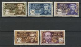 AEF 1940 N° 117/121 ** Neufs MNH Superbes C 11,10 € Paul Crampel Liotard - Neufs