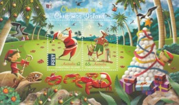 2017 Christmas Island Christmas Noel Golf Souvenir Sheet  @ BELOW Face Value - Christmas Island