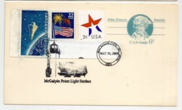 USA. Entier Postal. McGulpin Point Lighthouse.Straits Of Mackinac.Lake Michigan-Lake Huron - 2001-10