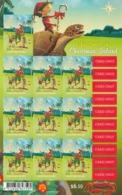 2017 Christmas Island Christmas Noel Golf Turtle Crab Miniature Sheet Of 10 @ BELOW Face Value - Christmas Island