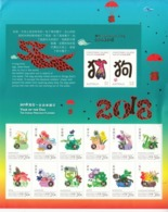 2018 Christmas Island Year Of The Dog Miniature Sheet Of 10 @ BELOW Face Value - Christmas Island