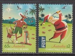 2017 Christmas Island Christmas Noel Golf Complete  Set Of 2 @ BELOW Face Value - Christmas Island