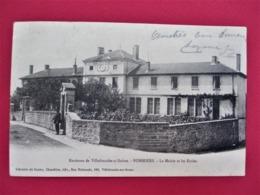Environs De Villefranche Sur Saone - POMMIERS - La Mairie Et Les Ecoles - Dos Précurseur, Voyagée En 1905 - TBE - Autres Communes