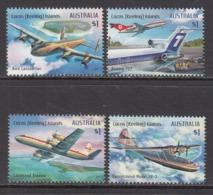 2017 Cocos (Keeling) Islands Aviation Planes Complete  Set Of 4 @  Face Value - Kokosinseln (Keeling Islands)