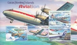 2017 Cocos (Keeling) Islands Aviation Planes Souvenir Sheet @  Face Value - Kokosinseln (Keeling Islands)