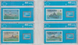 GIBRALTAR 1993 WARSHIP HMS ARK ROYAL NAVY AIRCRAFT CARRIER MINT - Gibraltar
