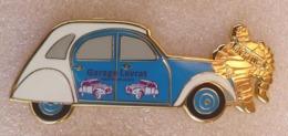 Pins PIN'S VOITURE CITROEN 2CV,MICHELIN, GARAGE LAVRAT - Citroën