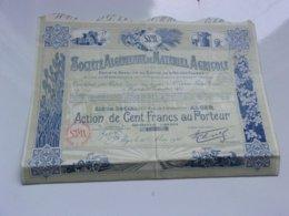 Algérienne De Matériel Agricole (1925) Alger Algérie - Actions & Titres