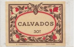 AN 552 / ETIQUETTE   CALVADOS  R. LANNEHARD  SAINT OUEN - Labels