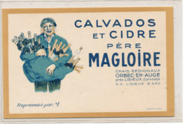 AN 560 / ETIQUETTE   CARTE DE VISITE CALVADOS ET CIDRE PERE MAGLOIRE   ORBEC EN AUGE - Etiquettes