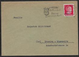 1944 Dt. Reich OSTLAND 12Pf N. DRESDEN - SST VOLLKORNBROT - BREAD - PAIN - BROT - Lettres & Documents