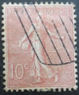 FRANCE Semeuse Lignée N°129 Oblitéré - 1903-60 Säerin, Untergrund Schraffiert