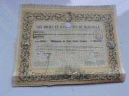 DOCKS ET ENTREPOTS DE MARSEILLE (1860) - Actions & Titres