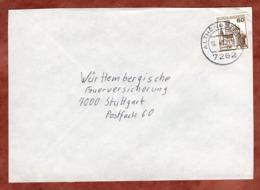 Brief, Marksburg, Althengstett Nach Stuttgart 1980 (79303) - BRD