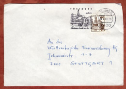 Brief, Marksburg, MS Tuebingen, Nach Stuttgart 1980 (79304) - BRD