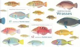2018 Norfolk Island Fish Poisson Souvenir Sheet @  Below Face Value - Norfolk Island