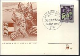 AUTRICHE - KÄRNTEN FREI UND UNGETEILT - 1948 - - 1945-.... 2ème République