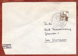 Brief, Marksburg, SoSt Bad Friedrichshall Salzbergwerk, Nach Stuttgart 1980 (79306) - BRD