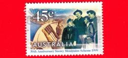 AUSTRALIA  - Usato - 1999 - Schema Della Snowy Mountain - Diga - Island Bend Dam - 45 - 1990-99 Elizabeth II